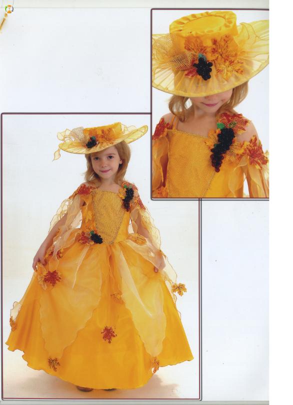 Как сделать костюм на мисс осень